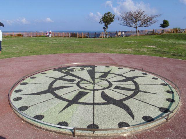 久高島を示している方位計