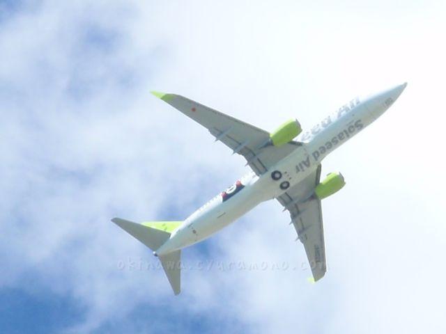 飛行機の裏側